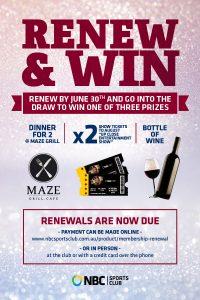 Renew & Win!