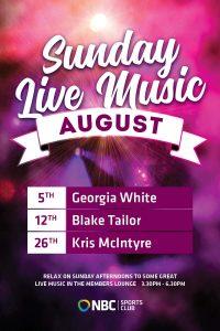Free Sunday Entertainment – August 2018