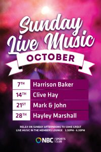 October Sunday Live Music 2018