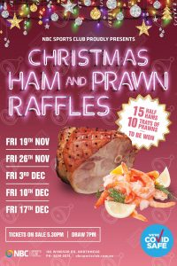 Christmas Ham & Prawn Raffles